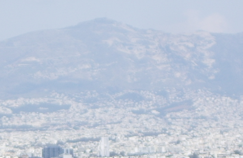 Burnt mountain, Athens